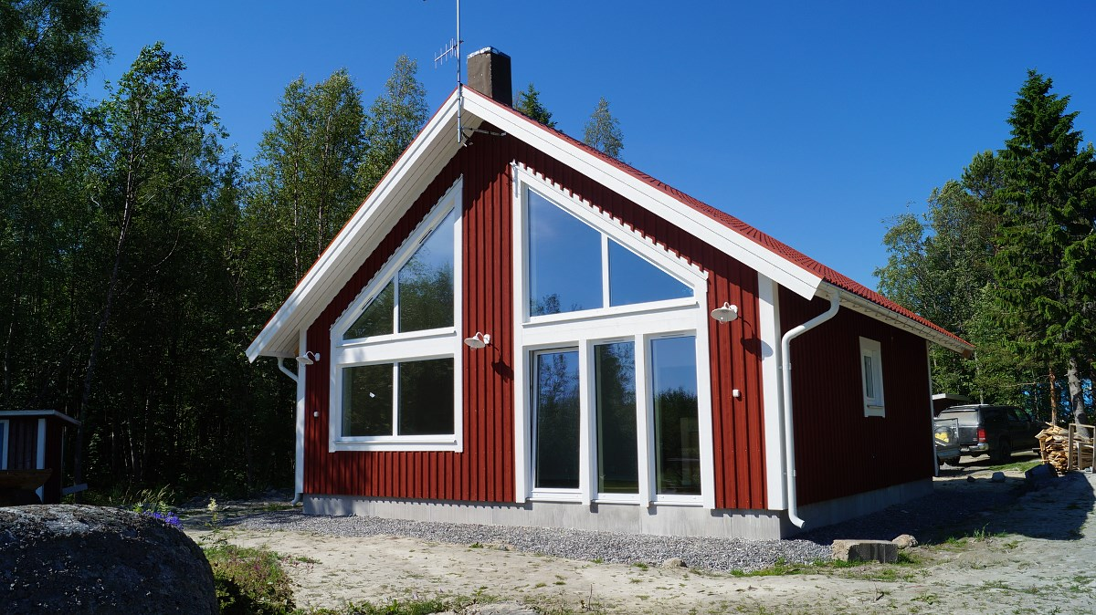 Sörböle/ timber frame house (prefabrication of the frame construction and assembly)