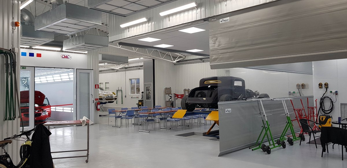 SyaLack/modernisation of a car paint shop and the construction of office and social rooms